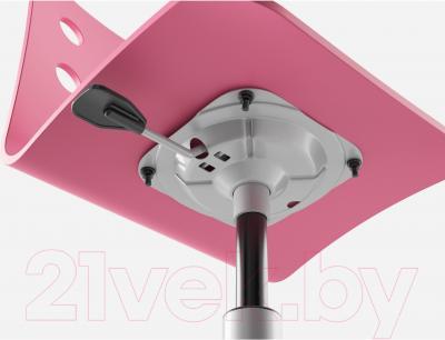 Стул офисный Ikea Юлес 498.845.32 (розовый/серебристый) - регулировка высоты сиденья