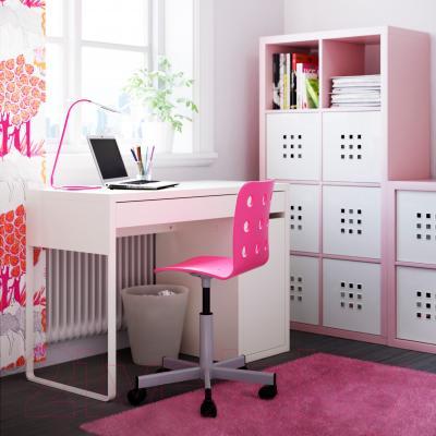 Стул офисный Ikea Юлес 498.845.32 (розовый/серебристый) - в интерьере