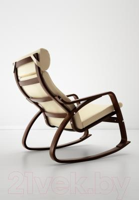 Кресло-качалка Ikea Поэнг 499.008.67 (коричневый/светло-бежевый)