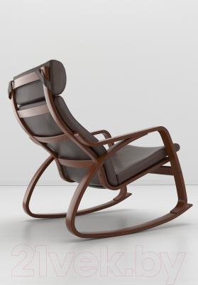Кресло-качалка Ikea Поэнг 499.008.72 (коричневый/темно-коричневый)