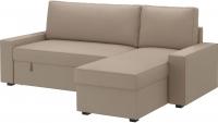 Угловой диван-кровать Ikea Виласунд 499.071.85 (Дансбу бежевый) -