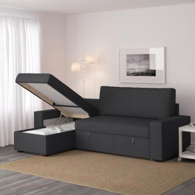 Угловой диван-кровать Ikea Виласунд 499.071.90 (Дансбу темно-серый)