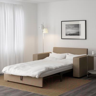 Диван-кровать Ikea Виласунд 499.072.13 (бежевый) - в разложенном виде