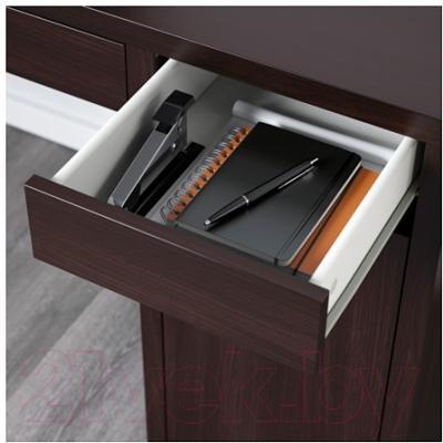 Письменный стол Ikea Микке 499.267.49 (черно-коричневый)