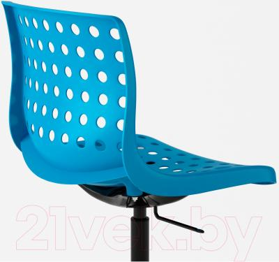 Стул офисный Ikea Сколберг/Споррен 590.236.03 (синий/черный) - вид сзади