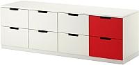 Комод Ikea Нордли 590.272.67 (белый/красный) -