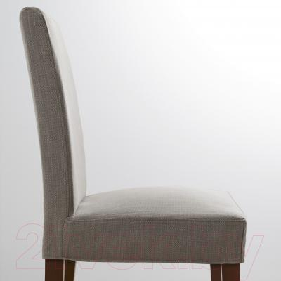 Стул Ikea Хенриксдаль 591.001.49 (коричневый/серо-бежевый)