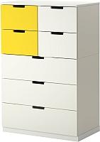 Комод Ikea Нордли 290.272.59 (белый/желтый) -