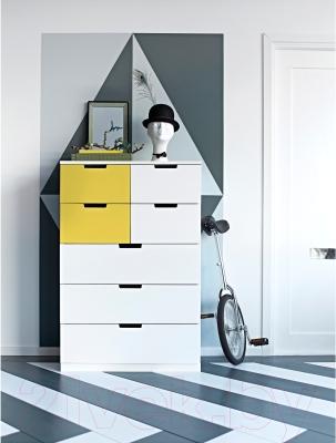 Комод Ikea Нордли 290.272.59 (белый/желтый)