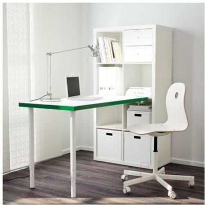 Письменный стол Ikea Каллакс 591.230.37 (белый/зеленый)