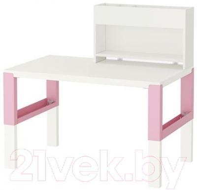 Письменный стол Ikea Поль 591.289.59 (белый/розовый)