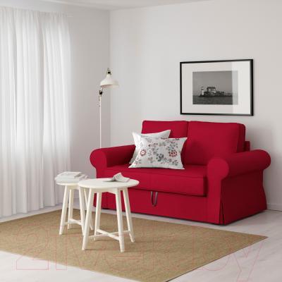Диван-кровать Ikea Баккабру 591.336.49 (Нордвалла красный) - в интерьере