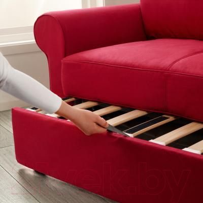 Диван-кровать Ikea Баккабру 591.336.49 (Нордвалла красный) - в процессе раскладки