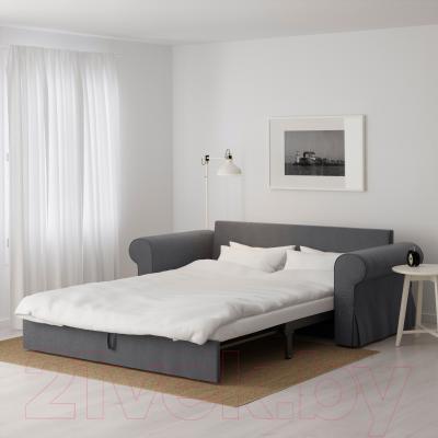 Диван-кровать Ikea Баккабру 591.341.11 (Нордвалла темно-серый) - в разложенном виде
