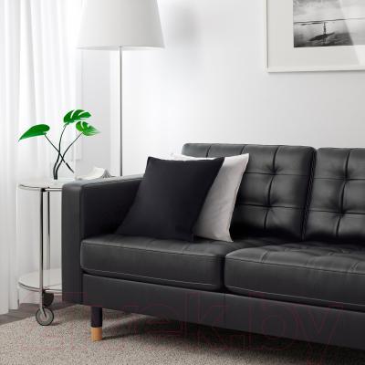 Диван Ikea Ландскруна 290.317.46 (черный/дерево) - в интерьере