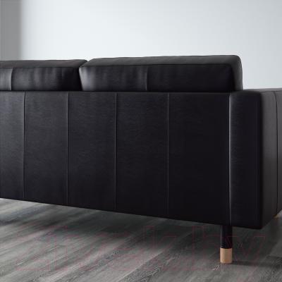 Диван Ikea Ландскруна 290.317.46 (черный/дерево) - вид сзади