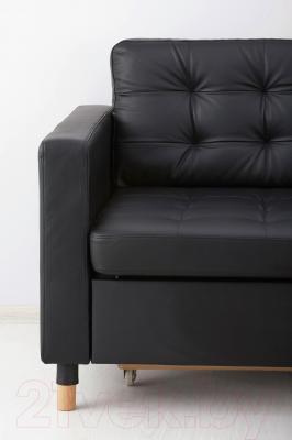 Диван Ikea Ландскруна 290.317.46 (черный/дерево)