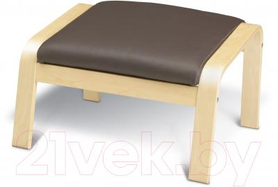 Банкетка Ikea Поэнг 598.291.11 (березовый шпон/темно-коричневый)
