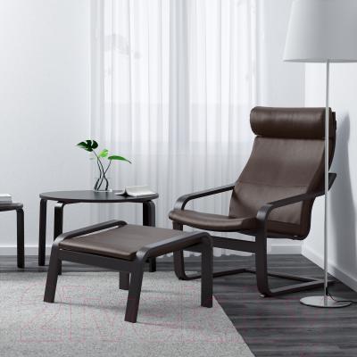 Кресло Ikea Поэнг 598.291.25 (черно-коричневый/темно-коричн.)