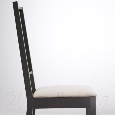 Стул Ikea Берье 598.781.25 (коричнево-черный/песочный)