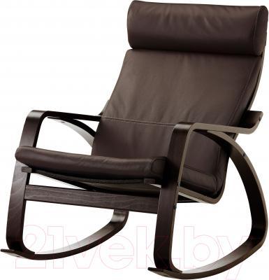 Кресло-качалка Ikea Поэнг 599.008.57 (черно-коричневый/темно-коричн.)