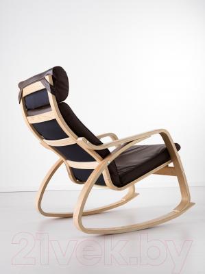 Кресло-качалка Ikea Поэнг 599.008.76 (дубовый шпон/темно-коричневый)