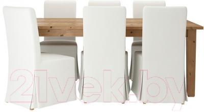 Обеденная группа Ikea Стурнэс / Хенриксдаль 599.173.39 (морилка антик/белый)