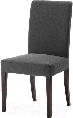 Стул Ikea Хенриксдаль 599.264.52 (коричнево-черный/темно-серый)