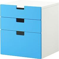 Комод Ikea Стува 690.142.12 (синий) -
