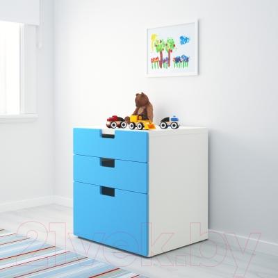 Комод Ikea Стува 690.142.12 (синий)