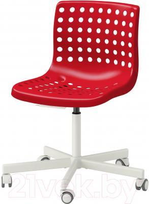 Стул офисный Ikea Сколберг/Споррен 690.235.94 (красный/белый)