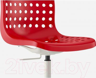 Стул офисный Ikea Сколберг/Споррен 690.235.94 (красный/белый) - вид спереди
