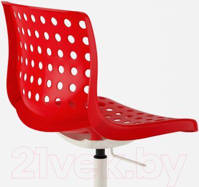 Стул офисный Ikea Сколберг/Споррен 690.235.94 (красный/белый) - вид сзади