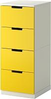Комод Ikea Нордли 690.272.57 (желтый/белый) -
