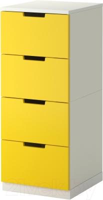 Комод Ikea Нордли 690.272.57 (желтый/белый)