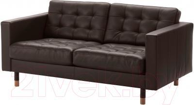 Диван Ikea Ландскруна 690.317.54 (темно-коричневый/дерево)