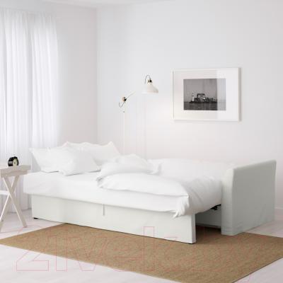 Диван-кровать Ikea Хольмсунд 690.486.60 (Ранста белый) - в разложенном виде
