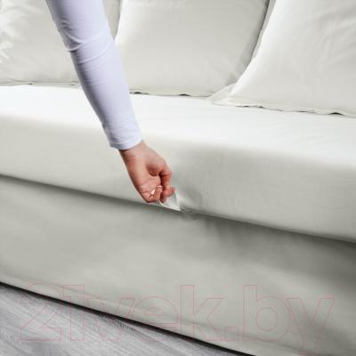 """Диван-кровать Ikea Хольмсунд 690.486.60 (Ранста белый) - механизм трансформации """"еврокнижка"""""""