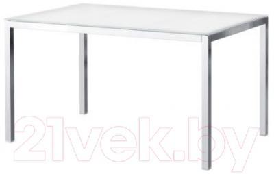 Обеденный стол Ikea Торсби 690.996.21 (белый глянцевый/хром)