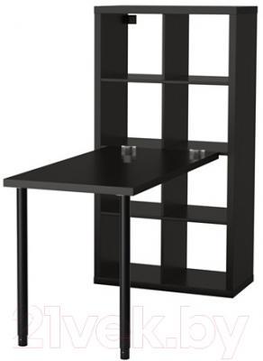Компьютерный стол Ikea Каллакс 691.230.70 (черно-коричневый)