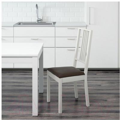 Стул Ikea Берье 691.283.84 (белый/коричневый)