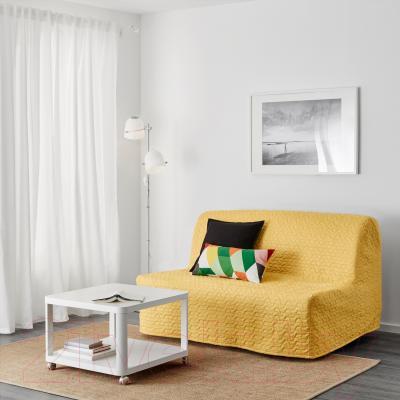 Диван-кровать Ikea Ликселе Мурбо 691.499.42 (Валларум желтый) - в интерьере