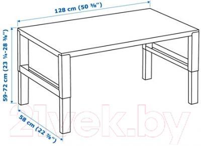 Письменный стол Ikea Поль 691.289.49 (белый/зеленый)