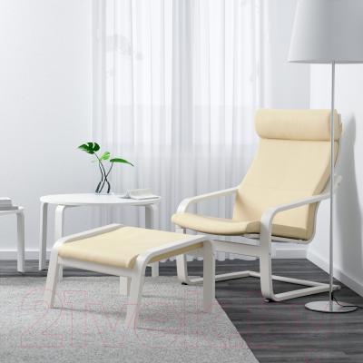 Кресло Ikea Поэнг 691.631.84 (белый/белый с оттенком)