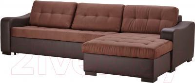 Угловой диван-кровать Ikea Лиарум/Ласеле 691.720.65 (коричневый/темно-коричневый)
