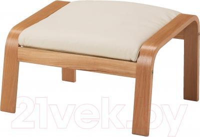 Банкетка Ikea Поэнг 698.305.43 (дубовый шпон/светло-бежевый)