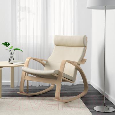Кресло-качалка Ikea Поэнг 698.610.11 (березовый шпон/светло-бежевый)