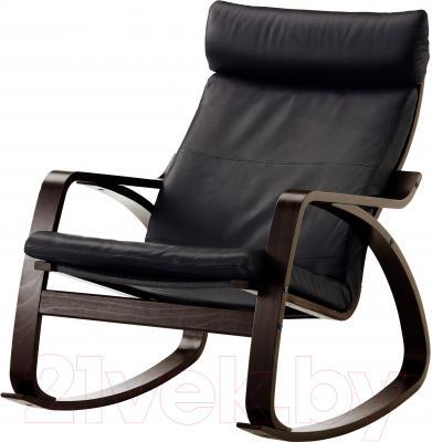 Кресло-качалка Ikea Поэнг 699.008.33 (черно-коричневый/черный)