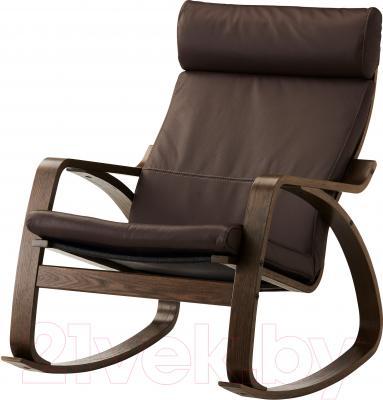 Кресло-качалка Ikea Поэнг 699.008.66 (коричневый/темно-коричневый)