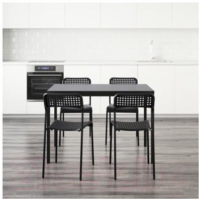 Обеденная группа Ikea Тэрендо / Адде 790.106.90 (черный)